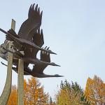 Скульптура «Журавли»