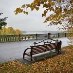 Притомская набережная осенью