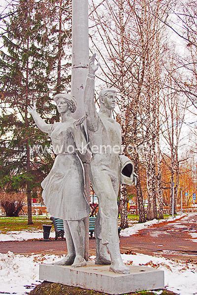 """Скульптура """"Космонавты"""""""