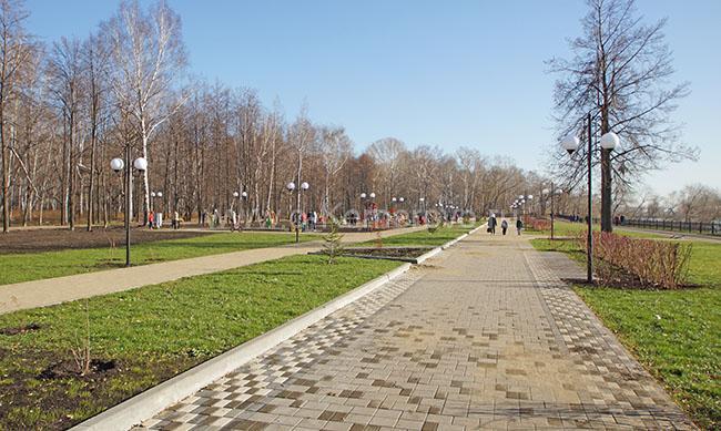 Набережная Томи в Кировском районе