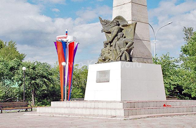 Площадь борцам революции в городе Анжеро-Судженск, Кемеровская область