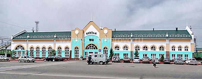 Железнодорожный вокзал. Город Анжеро-Судженск, Кемеровская область