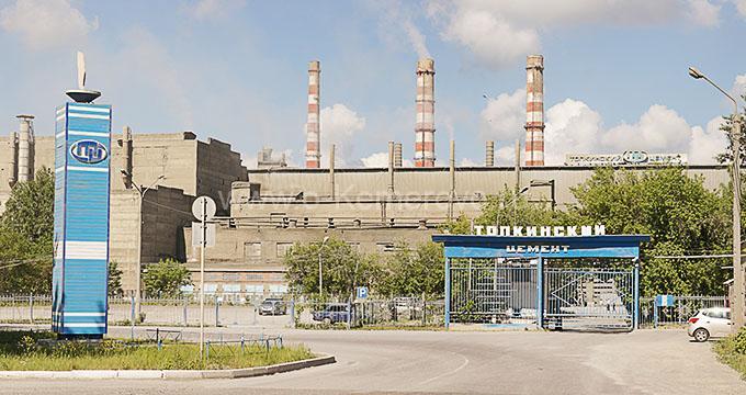 Топкинский цементный завод - крупнейшее предприятие города, Кемеровская область