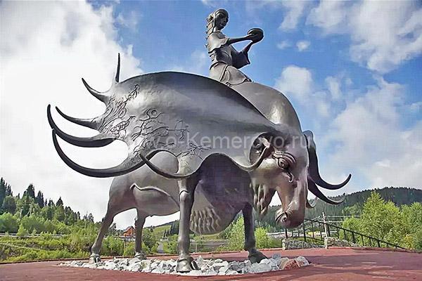 Семь чудес Кузбасса, скульптура Золотая Шория