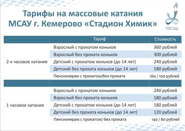 В Кемерове открывается сезон катания на коньках