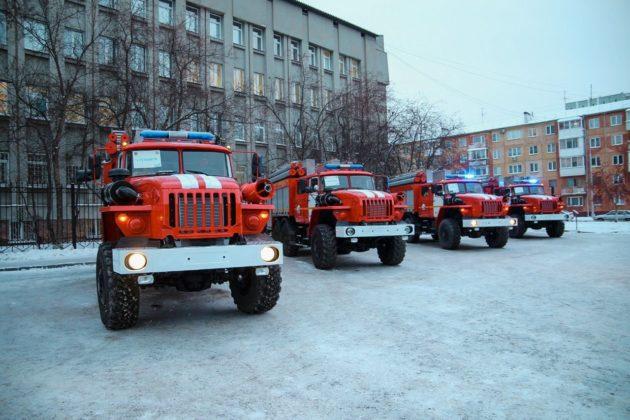 Четыре территории Кузбасса получили новые пожарные машины