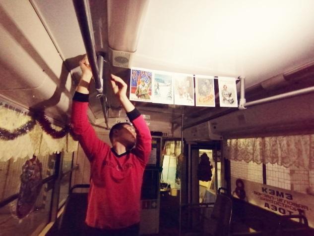 В Кемерове в салонах общественного транспорта появятся ретропортреты