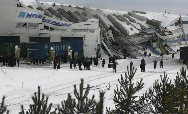 В Прокопьевске частично обрушилась кровля одного из цехов крупного предприятия