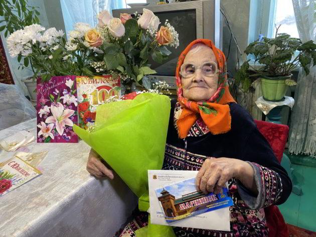 Анна Великжанина из Мариинска отметила 100-летие