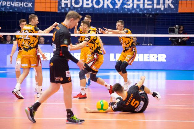 «Кузбасс» с трудом выиграл у «Берлина» и вышел в плей-офф волейбольной Лиги чемпионов