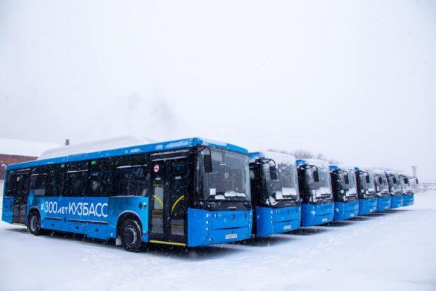 Новые автобусы для пригорода и межгорода поступили в Кузбасс