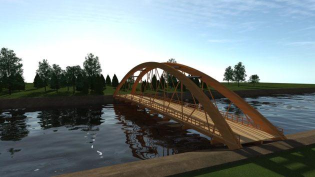 В Кемерове появится деревянный пешеходный мост через Искитимку