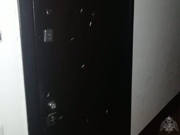 В Киселевске «дровосек» чуть не проломил топором дверь своей соседки
