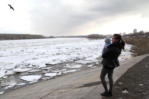 Ледоход на кузбасских реках ожидается раньше обычного