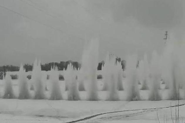 Взрывные работы на реке Мрас-Су провели раньше обычного