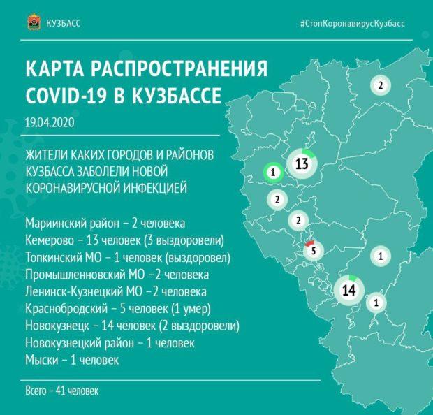 Больные коронавирусом выявлены в девяти территориях Кузбасса