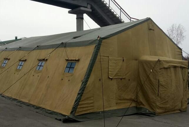 На станции Юрга-1 поставили военную палатку