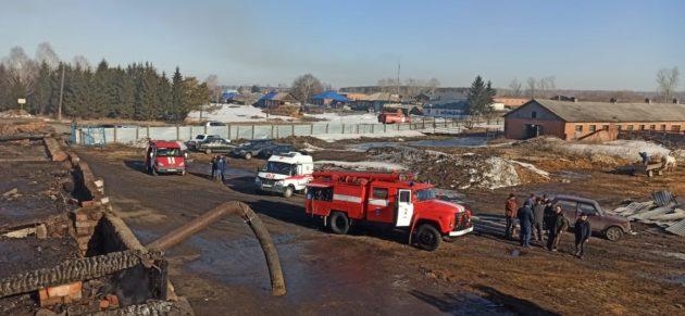 В Юргинском районе горела ферма