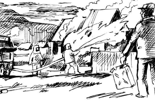 Ревнивая прокопчанка дотла сожгла чужой дом