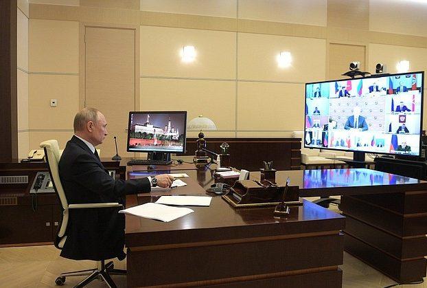 Владимир Путин провел совещание с главами регионов на тему коронавируса