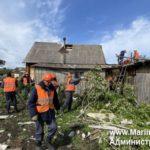 В Мариинском районе после урагана восстанавливают деревню