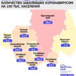 Кузбасс остается самым благополучным регионом СФО по количеству выявленных случаев заболевания COVID-19 на 100 тысяч человек