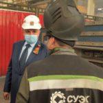 Губернатор Кузбасса высоко оценил уровень производства на заводе горношахтного оборудования СУЭК