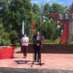 В Беловском районе открыли  отремонтированный парк Победы
