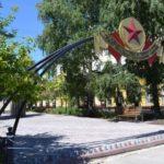 В сквере «Дважды Победители» в Ленинске-Кузнецком заканчивается ремонт