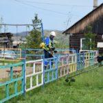 Горняки разреза «Берёзовский» навели порядок в селе Берёзово
