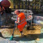 В Калтане после обращения местных жителей очистили фонтан