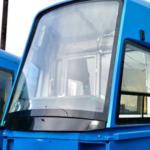 В Новокузнецк поступил новый трамвай «Кузбасс»