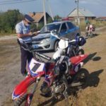 В Гурьевске три 15-летних подростка гоняли по городу на кроссовых мотоциклах
