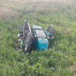 В Калтане мотоциклист вылетел с трассы и погиб