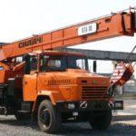 Автокраны на базе КРАЗ для выполнения сложной строительной работы