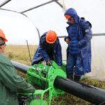 В селе Старопестерево Беловского района ведется реконструкция магистрального водопровода