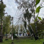 В Ленинске-Кузнецком устанавливают колесо обозрения с теплыми кабинками
