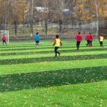 В Калтане отремонтировали футбольное поле