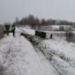 Восемь пассажиров автобуса «Таштагол–Новокузнецк» пострадали в результате ДТП
