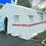Из палатки МЧС у кемеровской поликлиники украли тепловую пушку