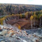 Под Новокузнецком начали тушить горящий угольный отвал
