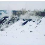 В Новокузнецком районе произошел сход горной породы