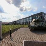 Кемеровский танк Т-34 уехал от кадетского президентского училища