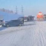Семь автомобилей попали в ДТП на трассе Кемерово-Новокузнецк