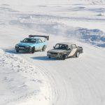 В Белове состоялся чемпионат по автогонкам «Ледовый слалом»