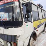 В Кемерове маршрутка врезалась в автогрейдер: водитель автобуса был со странностями