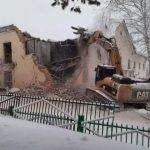 В Анжеро-Судженске снесли здание школы