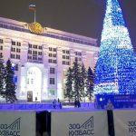 В Кемерове начали разбирать главную городскую ёлку