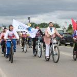В кузбасском городе 300-летию Кузбасса посвятили велопробег