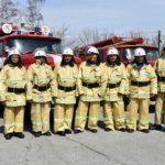 В Прокопьевском округе наградили добровольцев пожарной команды